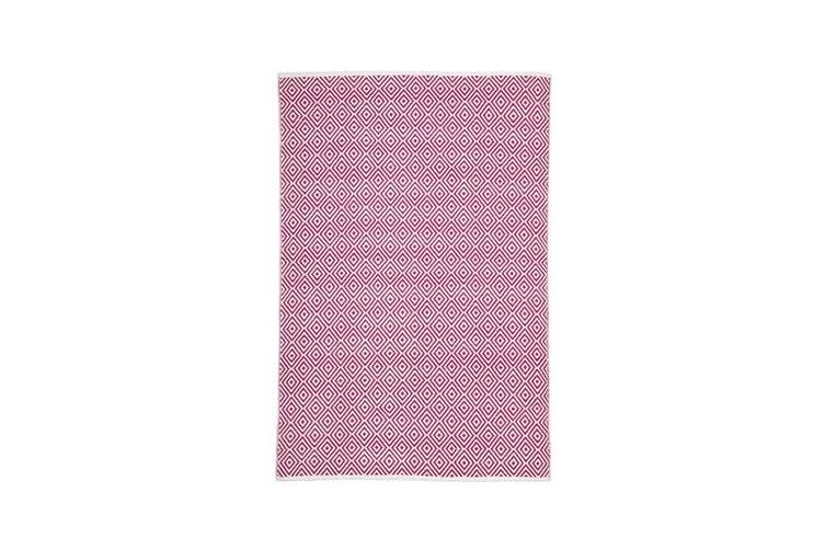 Villa Modern Diamond Rug Pink 220x150cm