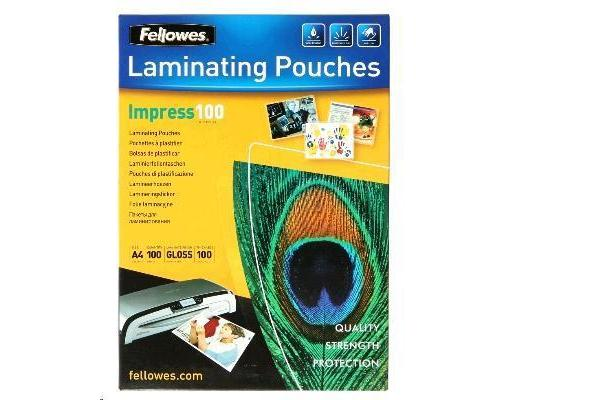 Fellowes 53511 Laminating Pouch A4 100 MICRON - 100 Pack