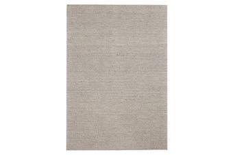 Oskar Felted Wool Striped Rug Grey 280x190cm