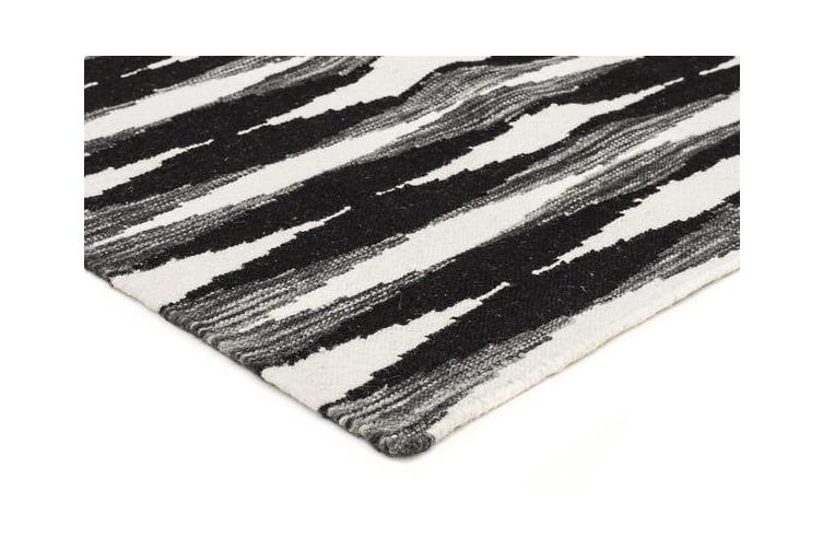 Frida Uber Gradient Rug Black Grey White 225x155cm