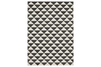 Astrid Geo Flat Weave Wool Rug 225x155cm