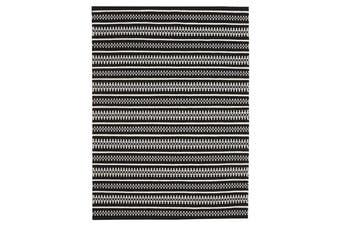 Ester Delicate Lace Woollen Rug Black 225x155cm