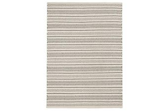 Ester Delicate Lace Woollen Rug Ivory Grey 225x155cm