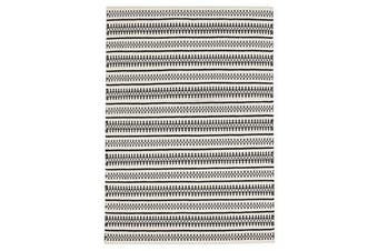 Ester Delicate Lace Woollen Rug Ivory Black 225x155cm