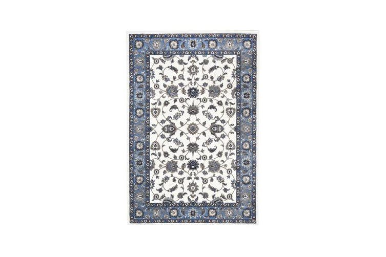 Classic Rug White with Blue Border 330x240cm