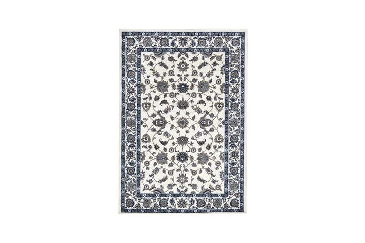 Classic Rug White with White Border 170x120cm