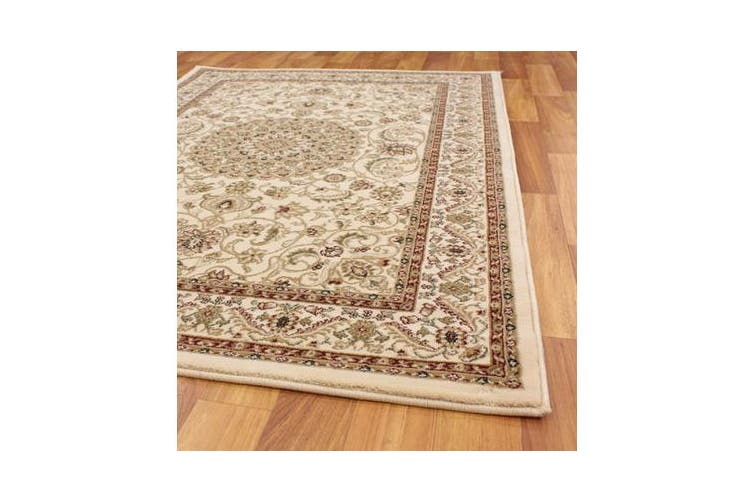 Medallion Rug Ivory with Ivory Border 170x120cm