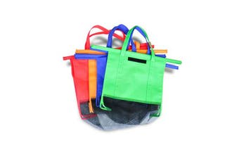 4Pcs Reusable Grocery Market Shopping Bags Eco Friendly Trolley Cart Carrier