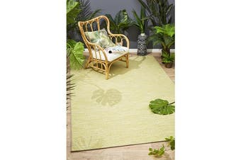 Wyatt Citrus Green Geometric Coastal Rug