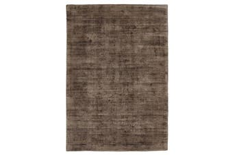 Luxe Modern Distressed Rug Brown