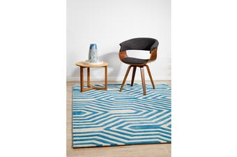 Circuit Board Blue Rug 165x115cm