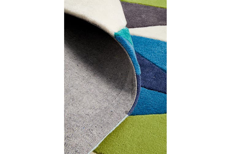 Blue and Green Crystal Design Rug 280x190cm