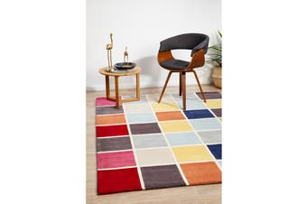 Cubed Awesome Multi Coloured Rug 225x155cm