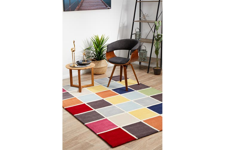 Cubed Awesome Multi Coloured Rug 165x115cm