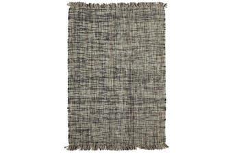 Confetti Wool Flat Weave Rug Slate 280X190cm