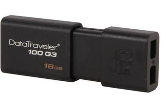 Kingston 16GB USB3.0 Flash Drive Memory Stick Thumb Key DataTraveler DT100G3 Retail Pack 5yrs warranty ~USK-DT100G3-16F DT100G3/16GBFR