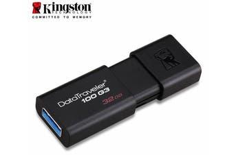 Kingston 32GB USB3.0 Flash Drive Memory Stick Thumb Key DataTraveler DT100G3 Retail Pack 5yrs warranty ~USK-DT100G3-32F DT100G3/32GBFR