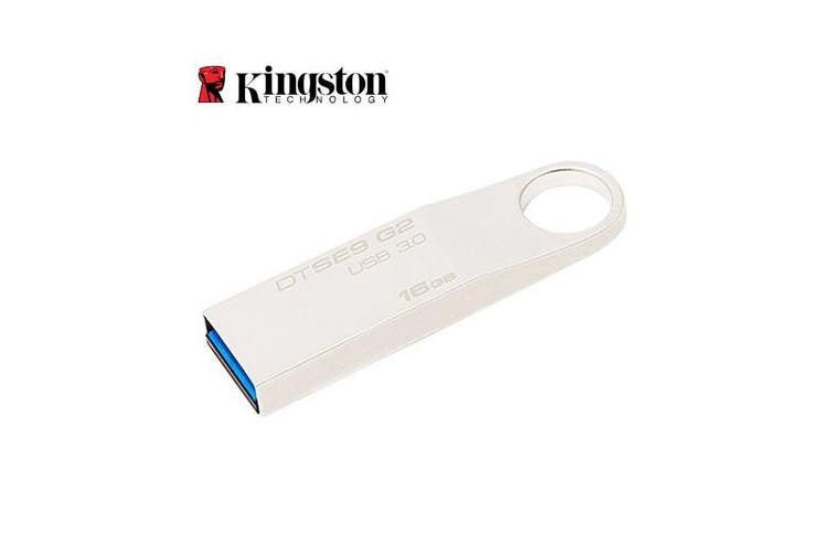 Kingston 16GB USB3.0 DataTraveler SE9 G2 Metal 100MB/s Read 15MB/s Write Flash Drive Memory Stick Thumb Key Lightweight Stylish Retail Pack 5yrs wty