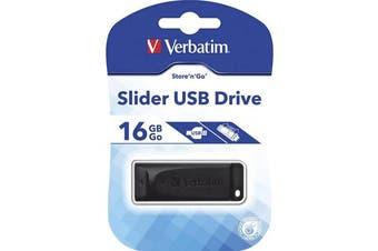 Verbatim USB2.0 Store 'n' Go Slider USB Drive 16GB Black