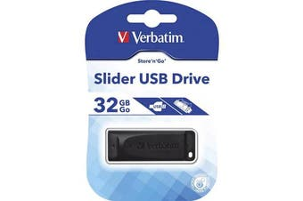 Verbatim USB2.0 Store 'n' Go Slider USB Drive 32GB Black