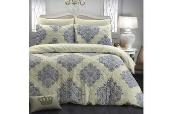 Park Avenue Microfiber Pinsonic Quilted Quilt cover set King Victoria - Reversible