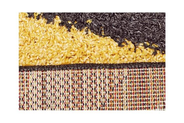 Burst Shag Rug Yellow and Charcoal 290x200cm