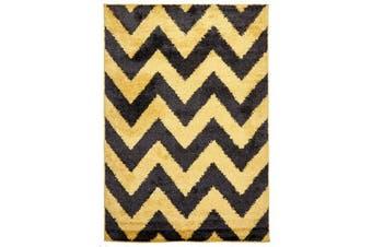Ziggy Shag Rug Yellow Charcoal