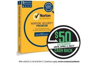 Symantec Norton Security Premium 3.0 25GB (5Device (21353828)