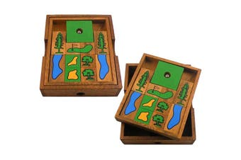 Wolfpack Games Golf Toward Freedom Wooden Puzzle