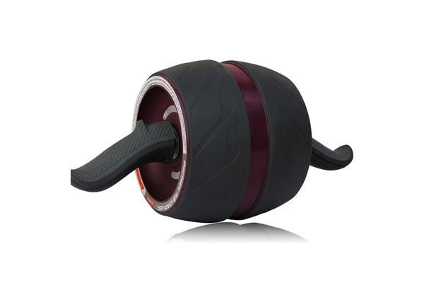 Power Stretch Abdominal Roller Body Fitness Exerciser Wheel Ab Carver Maroon
