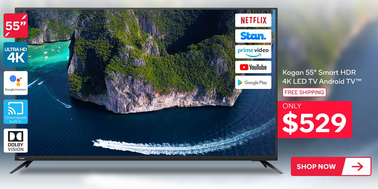 Kogan 55inch Smart HDR 4K LED TV Android TV™ (Series 9, XU9210)