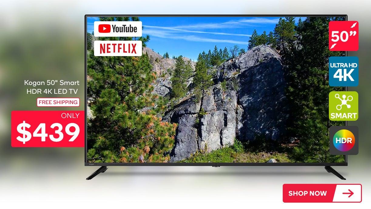 Kogan 50inch Smart HDR 4K LED TV (Series 8 RU8010)