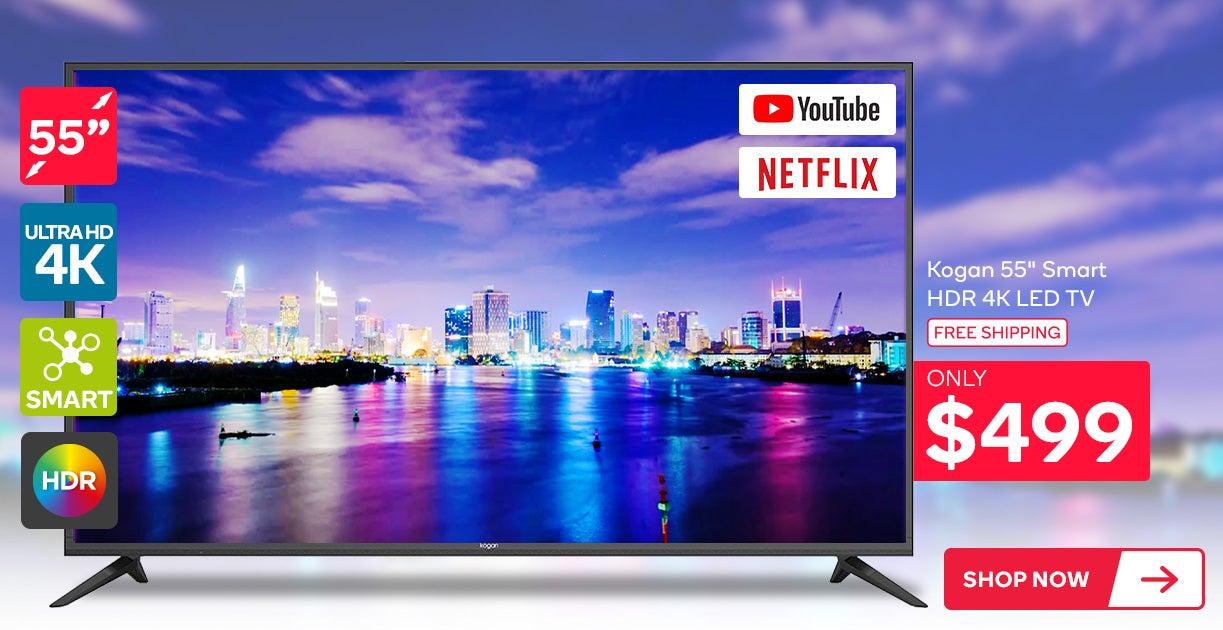 Kogan 55inch Smart HDR 4K LED TV (Series 8, NU8010)