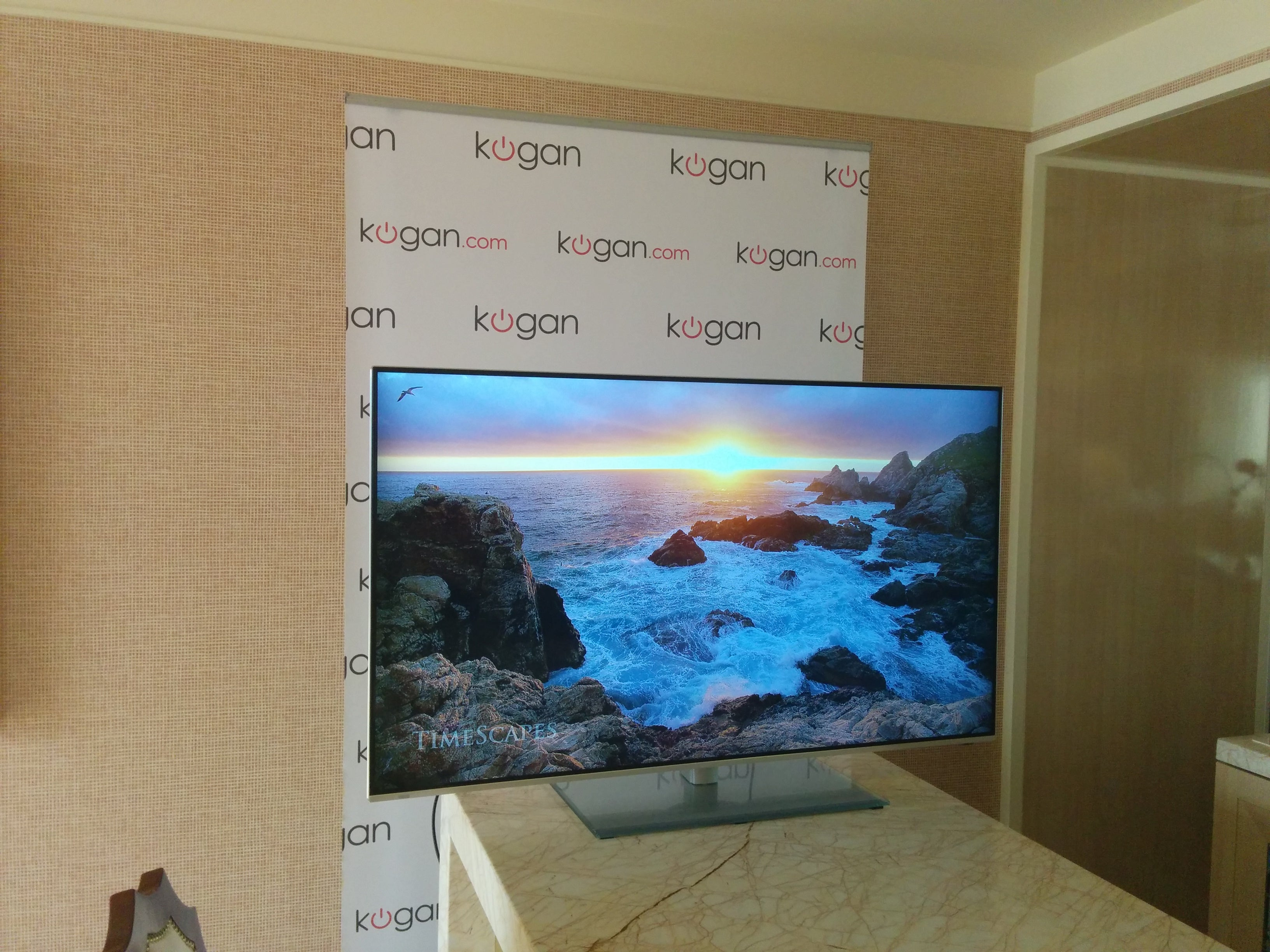 "Kogan unveils a 55"" Ultra High Definition TV for UNDER $1000"