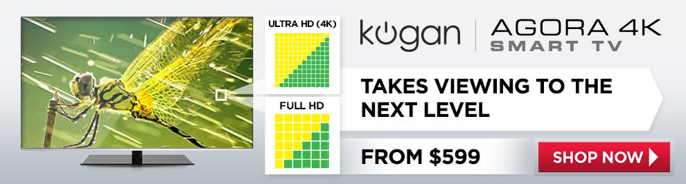 Kogan Agora 4K Smart LED TVs from $599