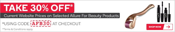 30% OFF Selected Allure for Beauty products using Code 'AFB30' at Checkout*