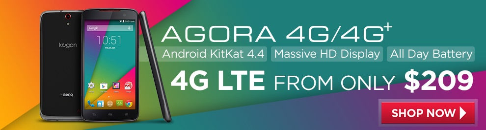 Kogan Agora 4G / 4G+ Smartphone from $209