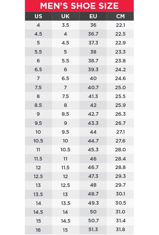 Adidas Size Chart Men