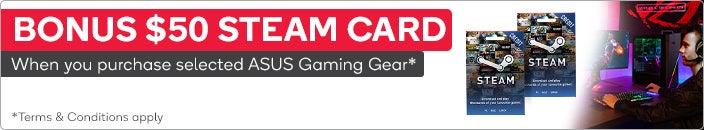Bonus $50 Steam Card via redemption only