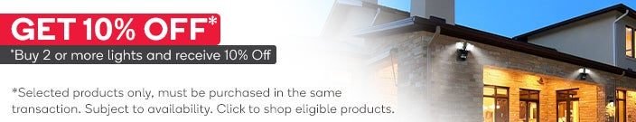 Get an Extra 10% Off When you Buy 2 or More Selected Lights