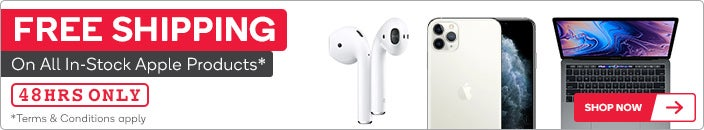 Free Shipping on All In-Stock Apple Products*