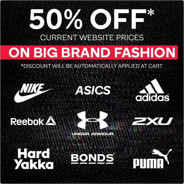 Black Friday - 50% OFF Big Brand Fashion