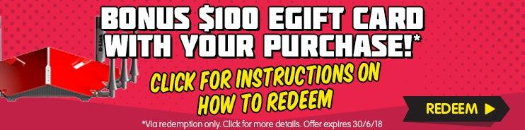 GET A BONUS $10 eGift
