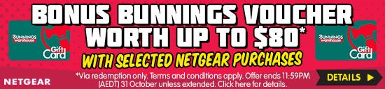Bonus Bunnings Voucher with Selected Netgear Switches