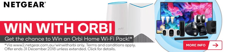 Purchase this product for the chance to Win an Orbi Home Wi-Fi Pack! Terms and conditions apply. Click for details.