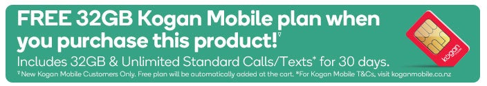 FREE Extra Large 30 Day KMNZ Plan with Compatible Smartphones. New Kogan Mobile Customers Only.  Free plan will be automatically added at the cart.