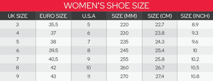 Puma Unisex Shoes Size Chart