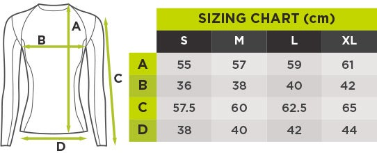 Fortis Size Chart