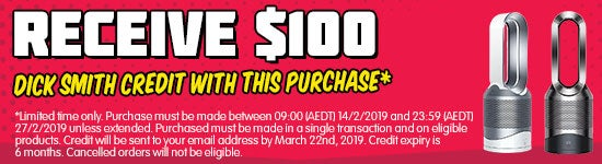 *Receive $100 Kogan.com Credit when you purchase this product. Limited time only. Purchase must be made between 09:00 (AEDT) 14/2/2019 and 23:59 (AEDT) 27/2/2019 unless extended. Purchased must be made in a single transaction and on eligible products. Credit will be sent to your email address by March 22nd, 2019. Credit expiry is 6 months. Cancelled orders will not be eligible.