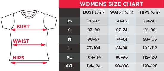 Nike Women's Tees Size Chart